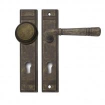 Ghidini Berlin Wechselgarnitur Langschild für Wohnungseingangstür antik gold braun M75 72 mm