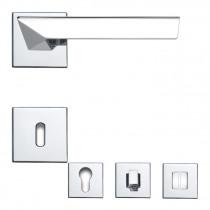 Linea Cali Türdrücker Rosettengarnitur mit quadratischen Rosetten Trio Zincral Vorschaubild