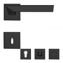 Trio Zincral Türdrücker Rosettengarnitur schwarz matt